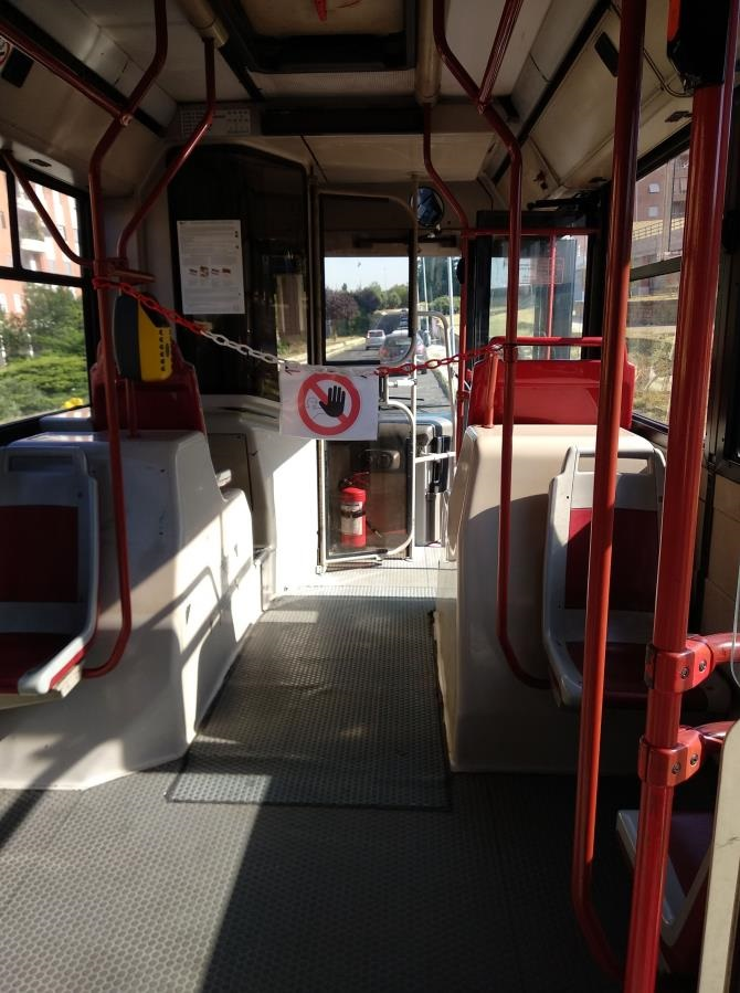 コロナウイルス対策路線バス