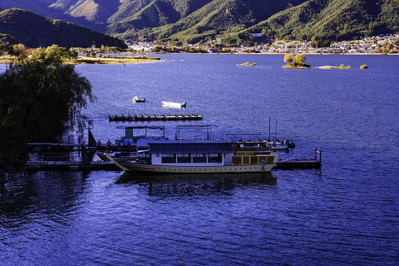 河口湖・屋形船