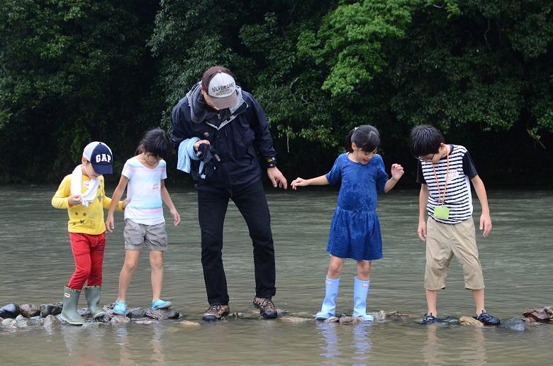 水遊びも安心な嵐山