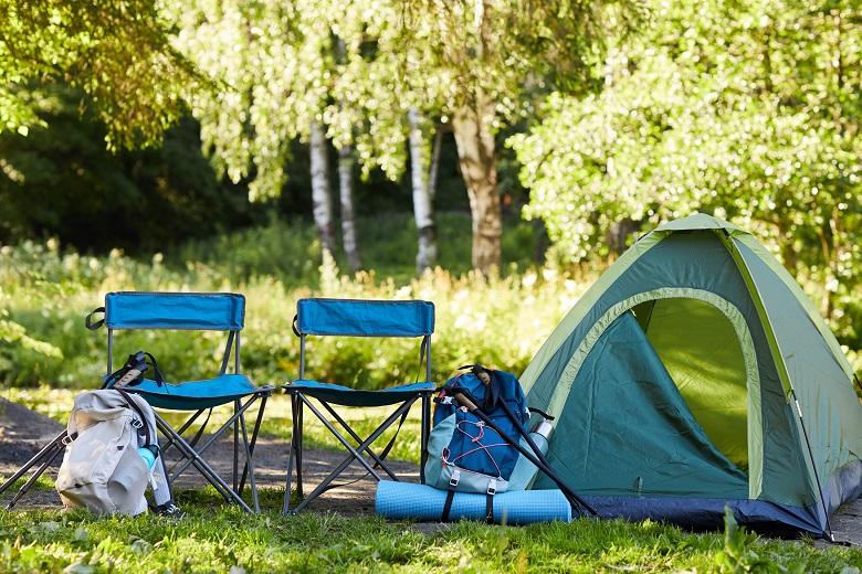キャンプ場でゆったり過ごす