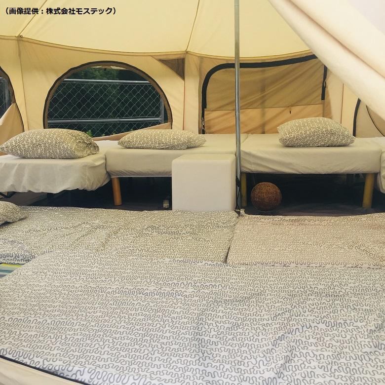 6名泊まれる大型テントもあり