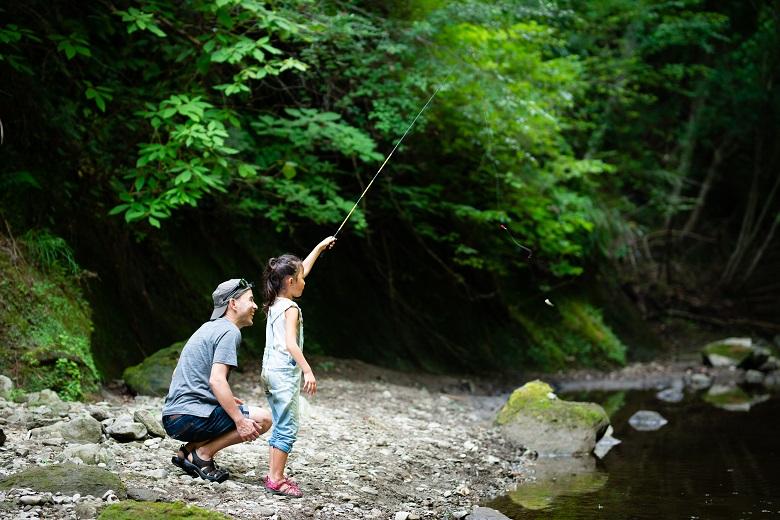 川釣りも楽しめるキャンプ場