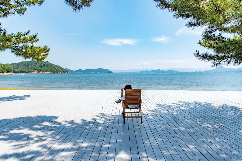直島のビーチ