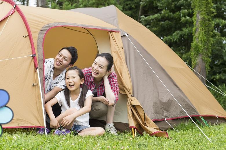 テントは着替え場所やお昼寝場所に便利