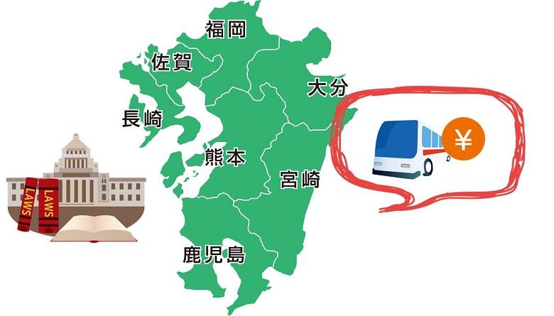 九州運輸局が設定している貸切バス料金