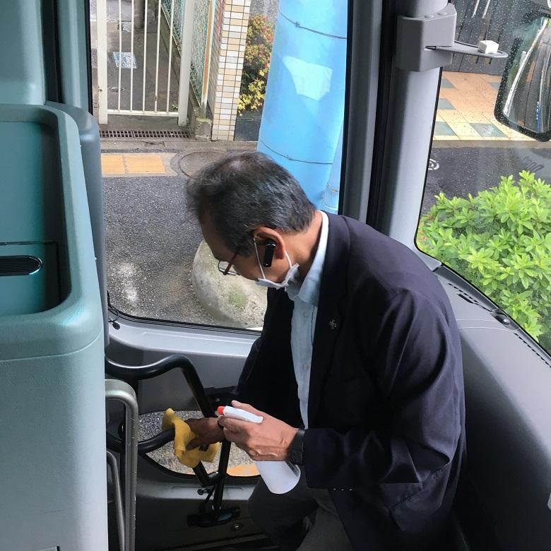 バス会社のコロナ対策例
